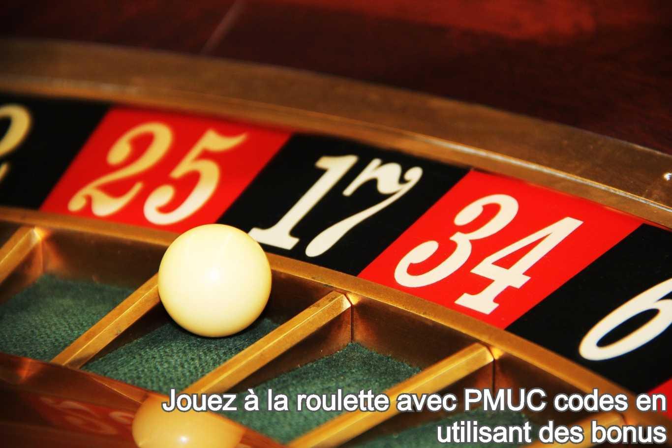 Jouez à la roulette avec PMUC codes en utilisant des bonus